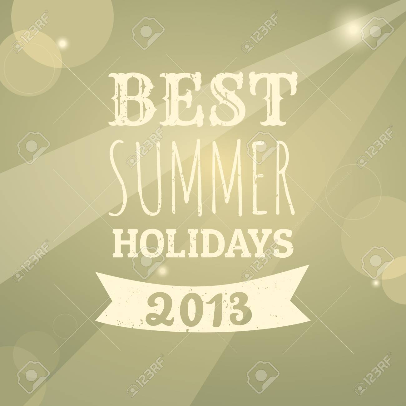 Typographic summer design. Stock Vector - 19866955