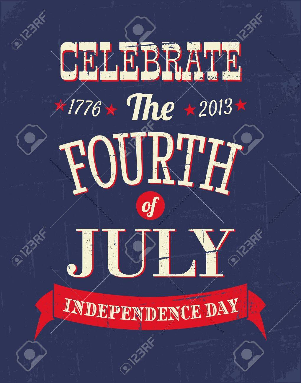 Grungy poster for the American Independence Day Stock Vector - 20059464