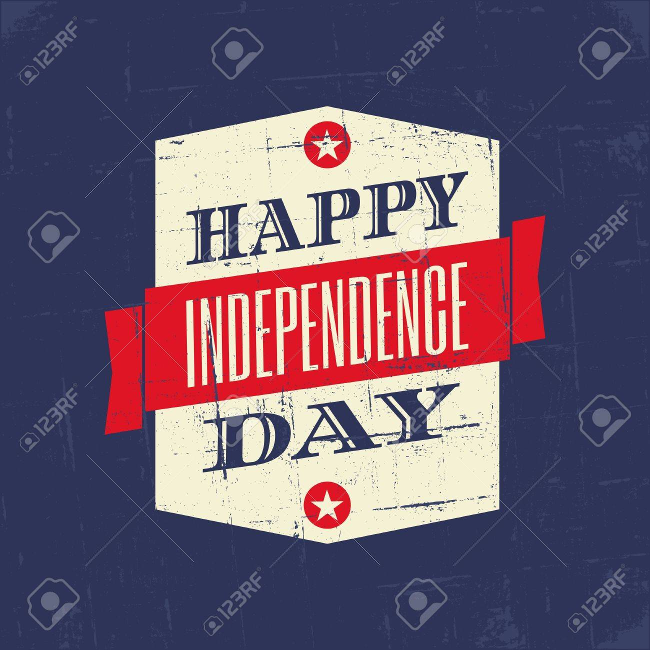Grungy poster for the American Independence Day Stock Vector - 20059441