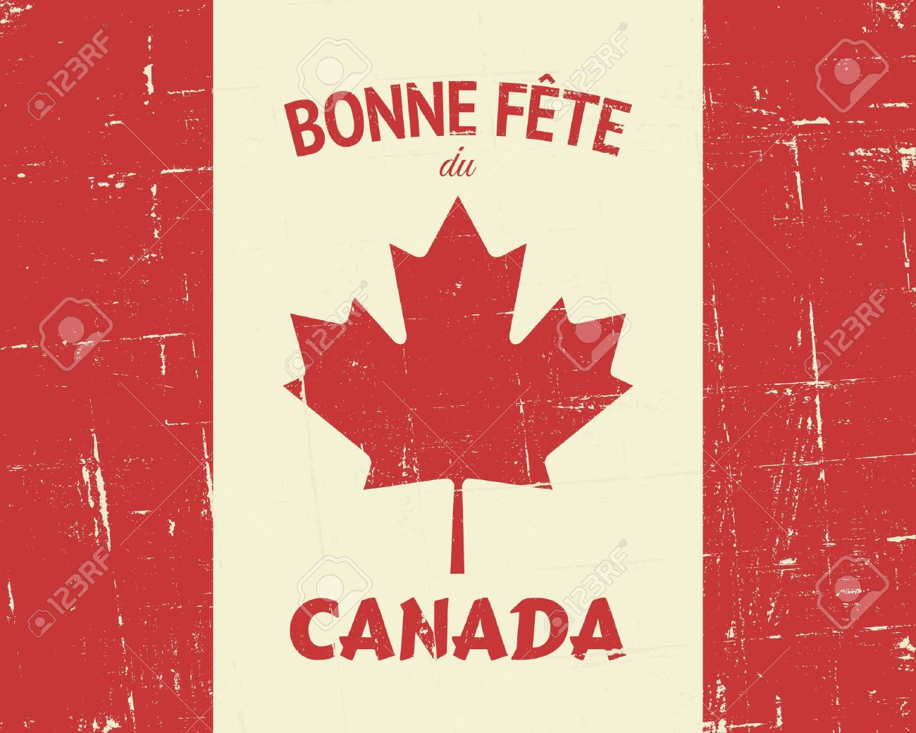 French happy canada day greeting card design royalty free french happy canada day greeting card design m4hsunfo