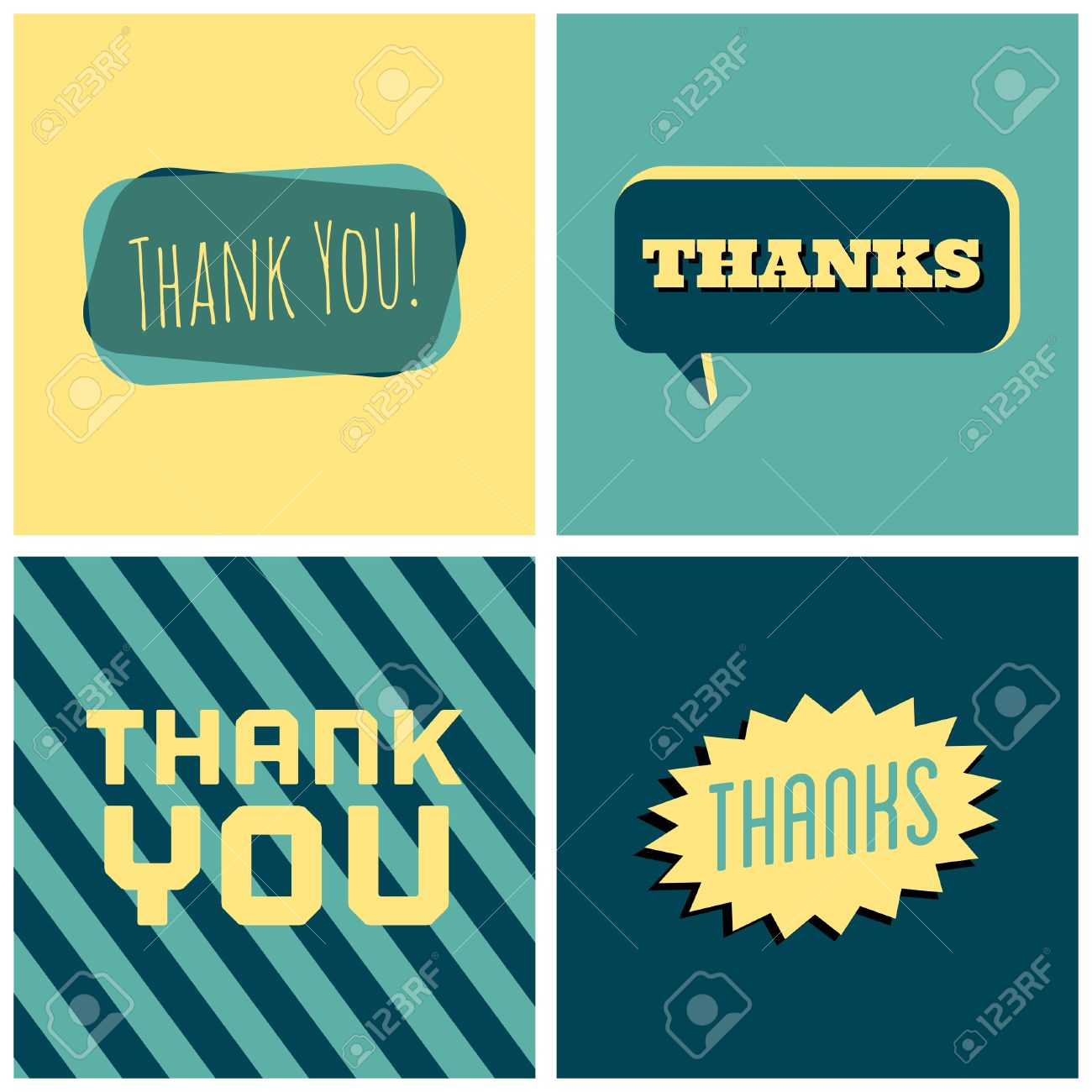 A set of four retro design greeting cards for thanksgiving day a set of four retro design greeting cards for thanksgiving day banco de imagens kristyandbryce Images