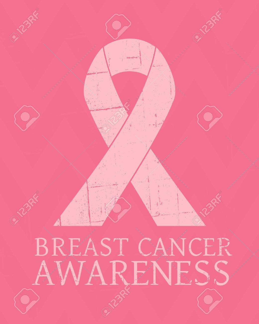 Vintage style Breast Cancer Awareness poster. Stock Vector - 22244696