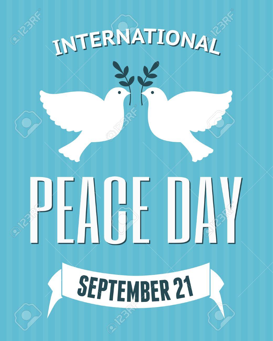 オリーブの枝を運ぶ鳩と国際平和...