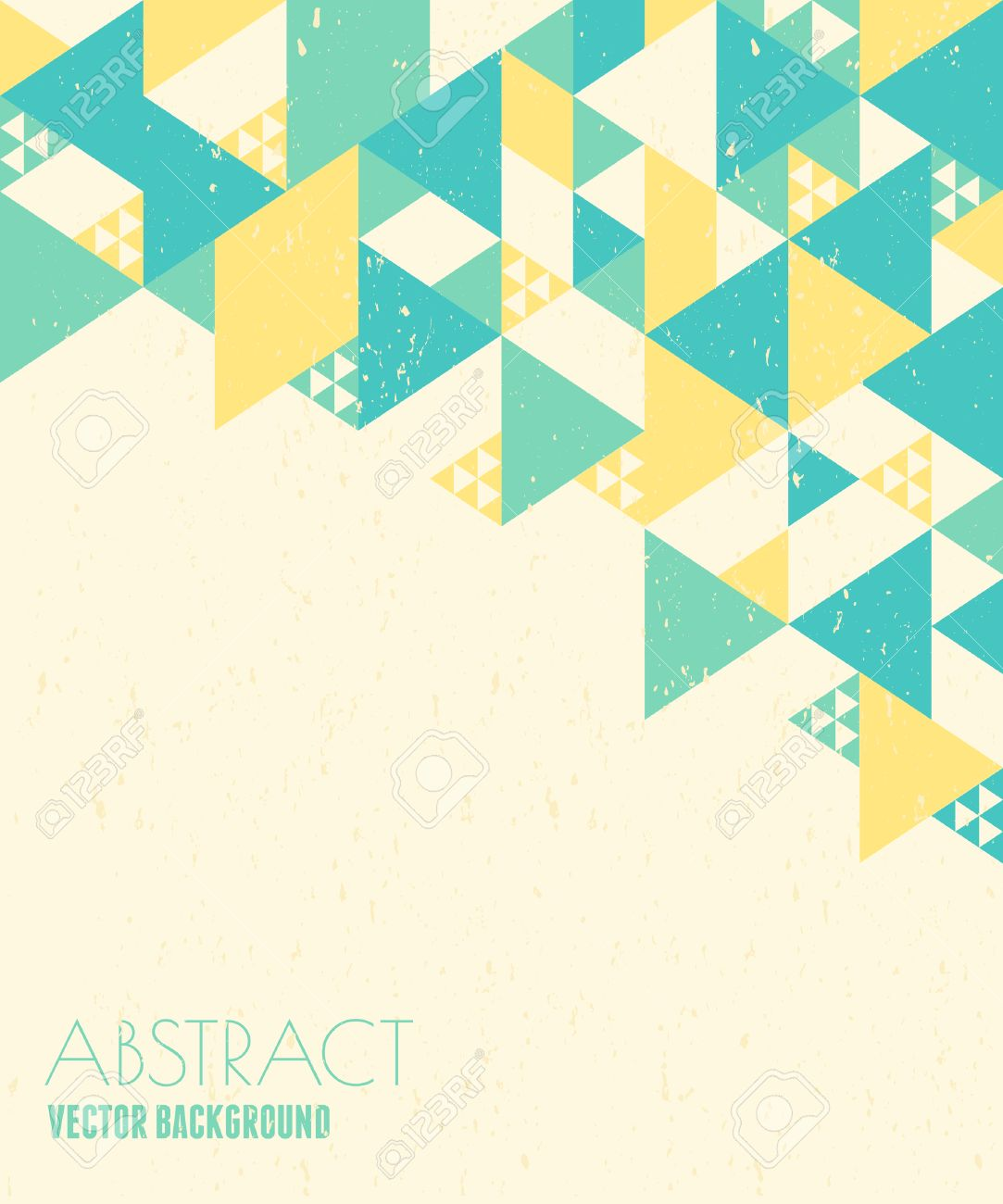 Design Geometric Abstract Geometric Design In Blue Yellow And White With Copy .