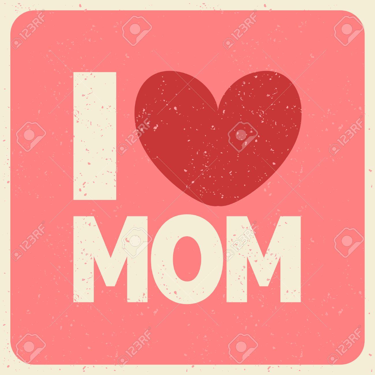 Ich Liebe Mama Grusskarte Perfekt Fur Muttertag Geburtstag Etc