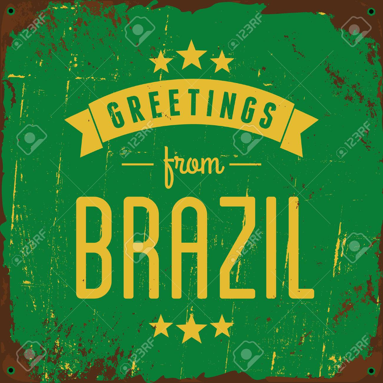Retro typography brazil metal sign greetings from brazil royalty retro typography brazil metal sign greetings from brazil stock vector 29601763 m4hsunfo