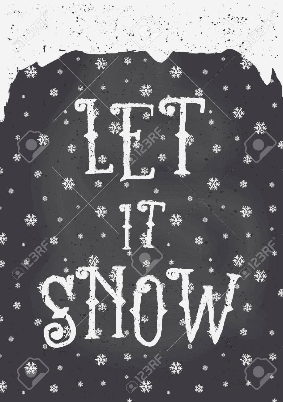 Tafel-Stil Weihnachts-Grußkarte Vorlage Mit Schneeflocken Und Text ...