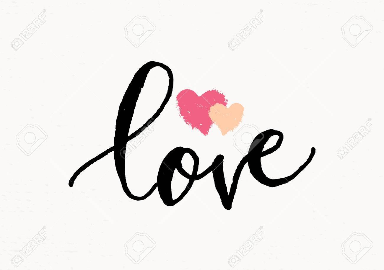 Line Art Valentine : Cute and modern typographic design st. valentine's day greeting