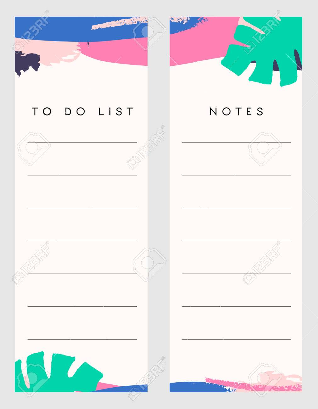 picture regarding Notes Printable titled Printable notes and in direction of do listing template patterns embellished with..