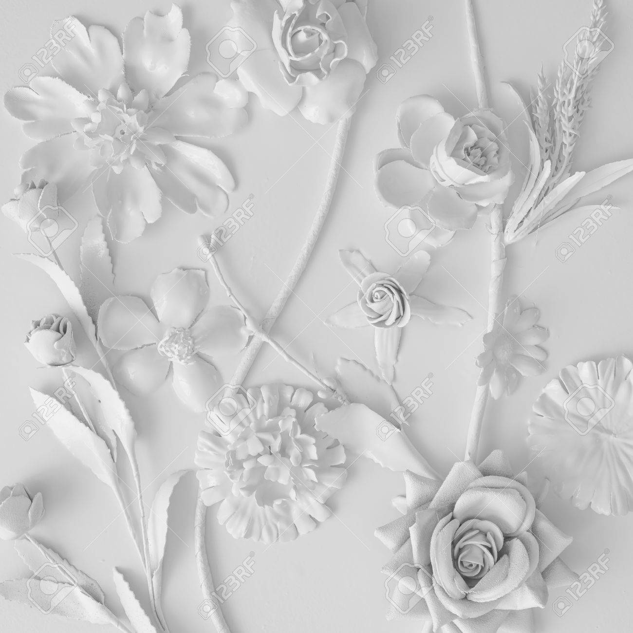 White flowers texture creative minimal concept flat lay stock stock photo white flowers texture creative minimal concept flat lay mightylinksfo