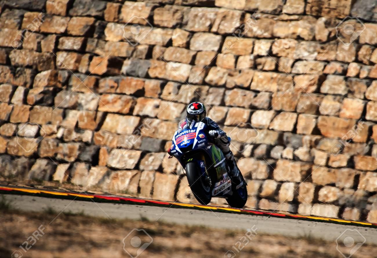 Circuito Motorland : Jorge lorenzo en movistar gp de aragón de motogp en el circuito de
