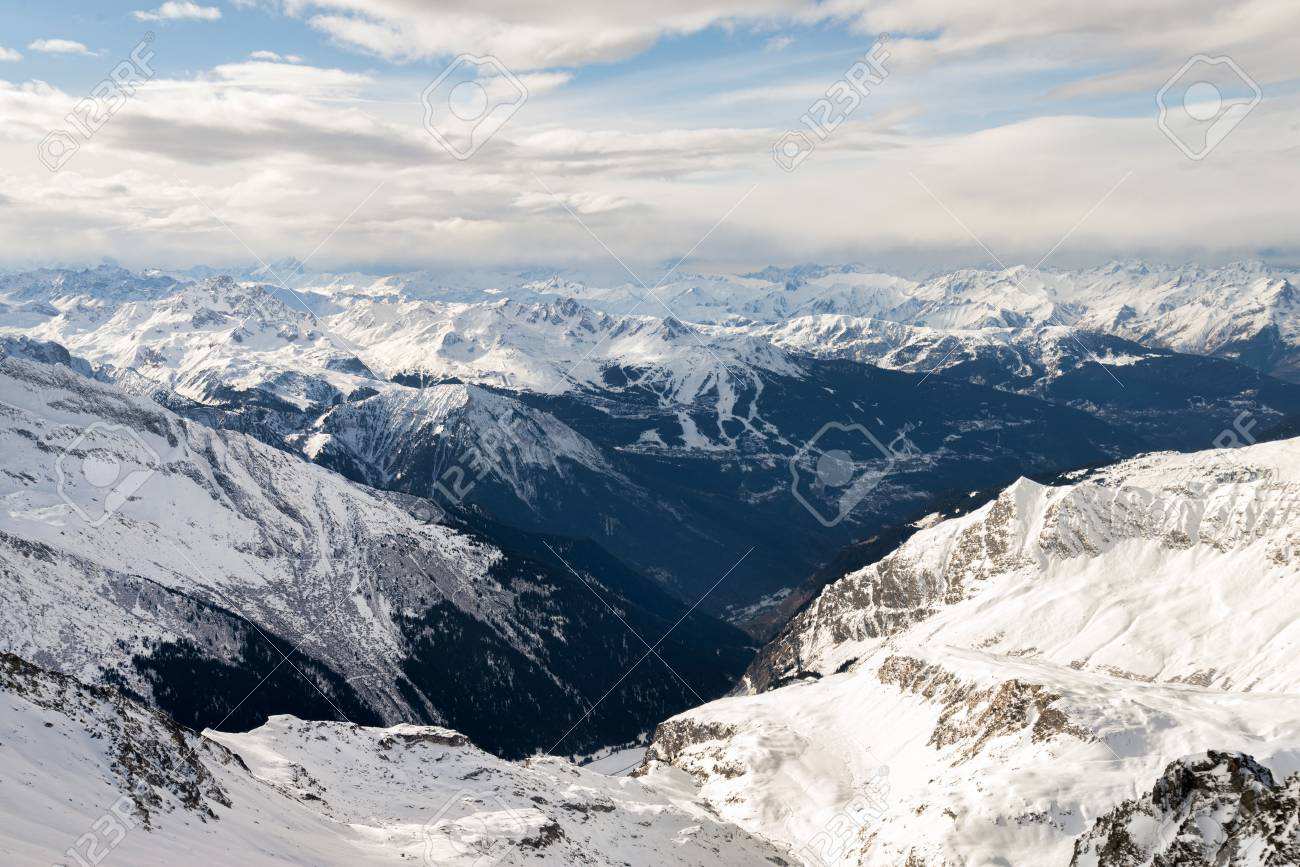 alpine mountain ski resort landscape stock photo, picture and
