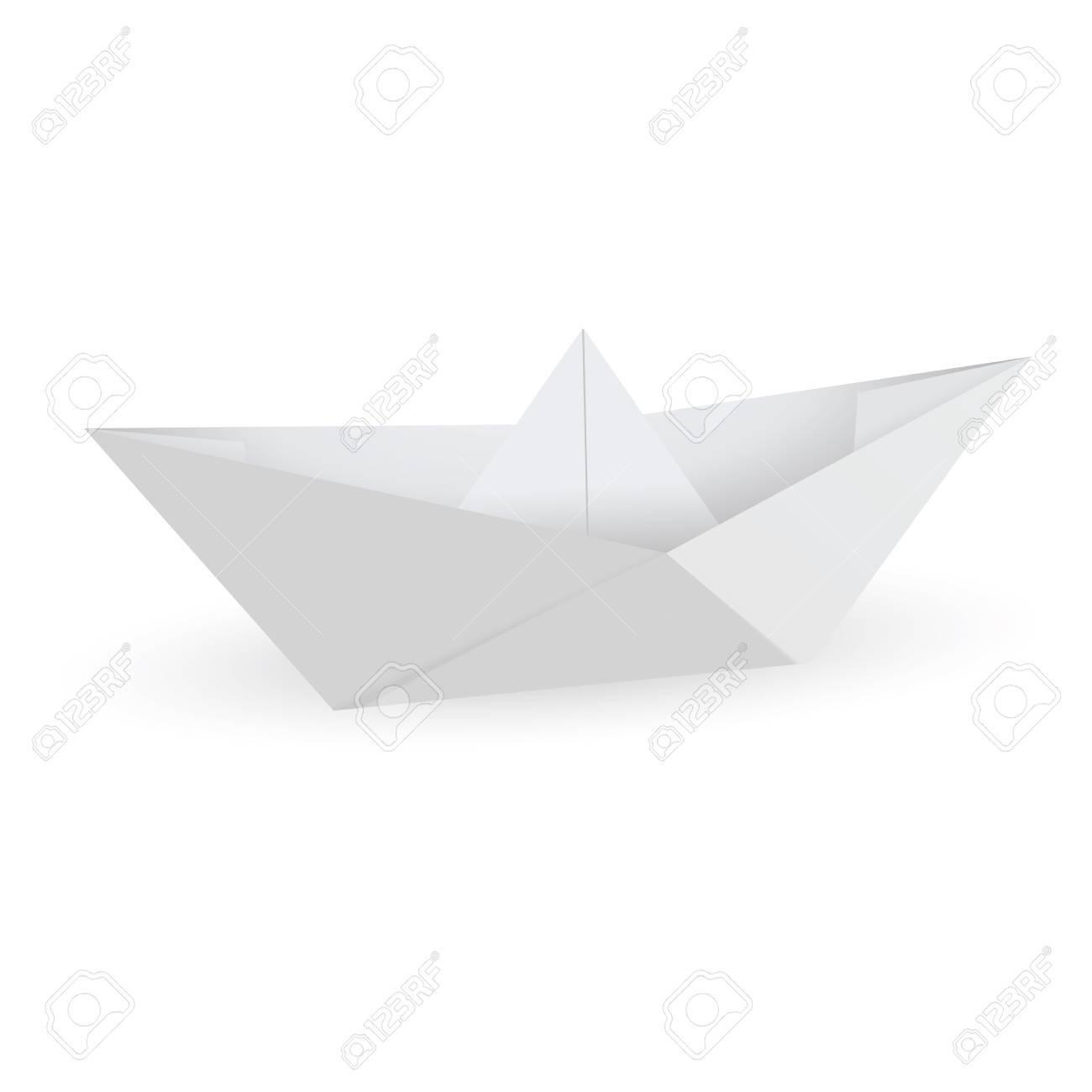 Papier Origami Bateau Isole Sur Fond Blanc Clip Art Libres De Droits Vecteurs Et Illustration Image 17323677