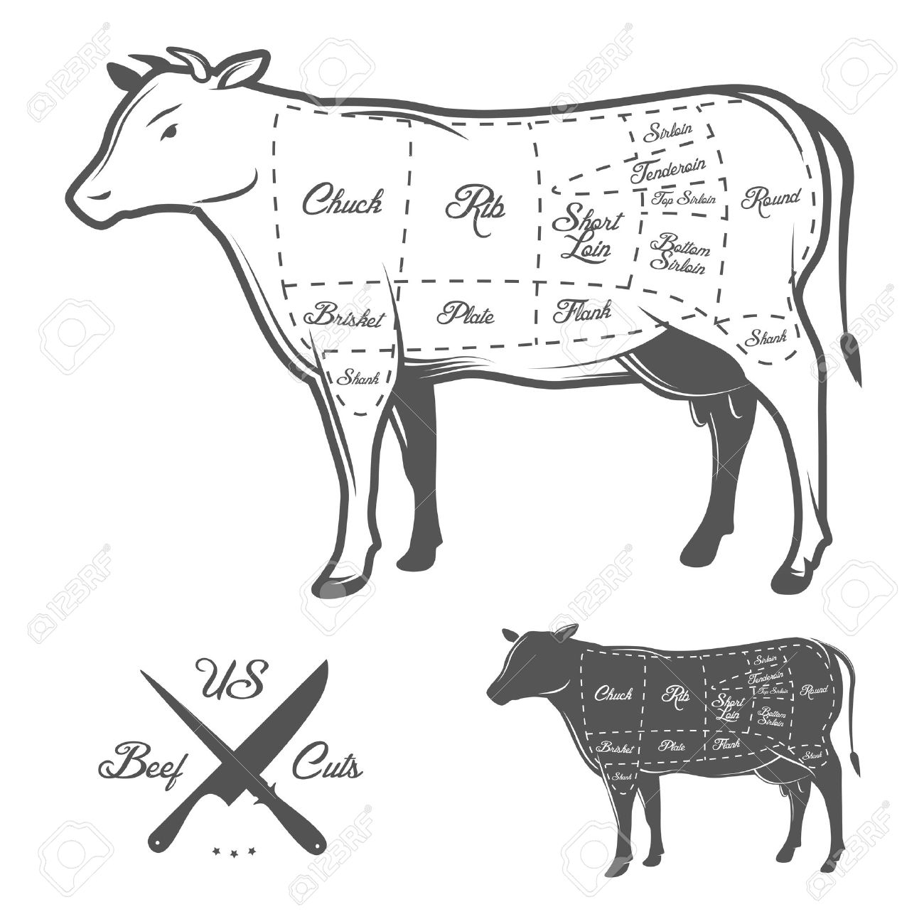 4,983 Beef Cattle Cliparts, Stock Vector And Royalty Free Beef ...