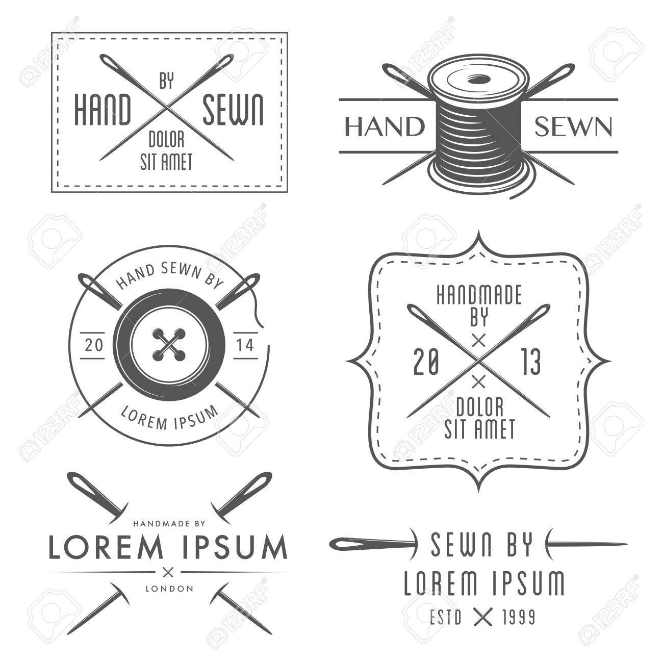 Set of vintage tailor labels and emblems - 23283707