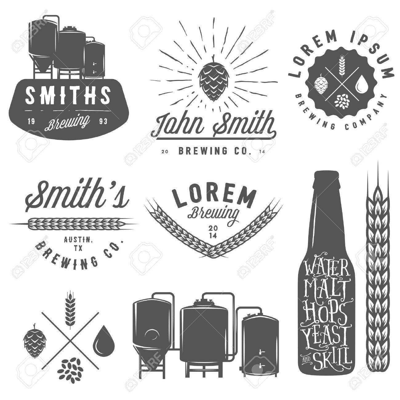 Craft Brewery Labels Brewery Emblems Labels