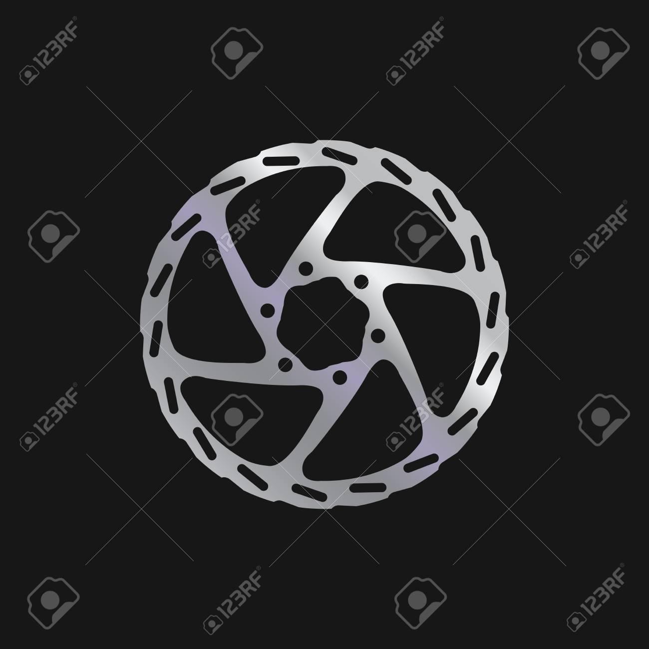 Mtb Bike Bicycle Disc Brake Rotor Realistic Vector Illustration