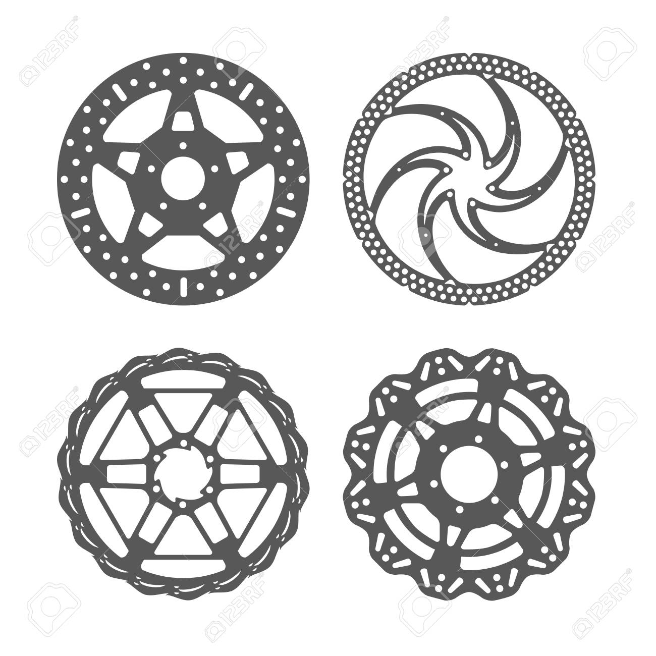 Bicycle Disc Brake Set Bike Disc Brake Rotors Of Different Shapes