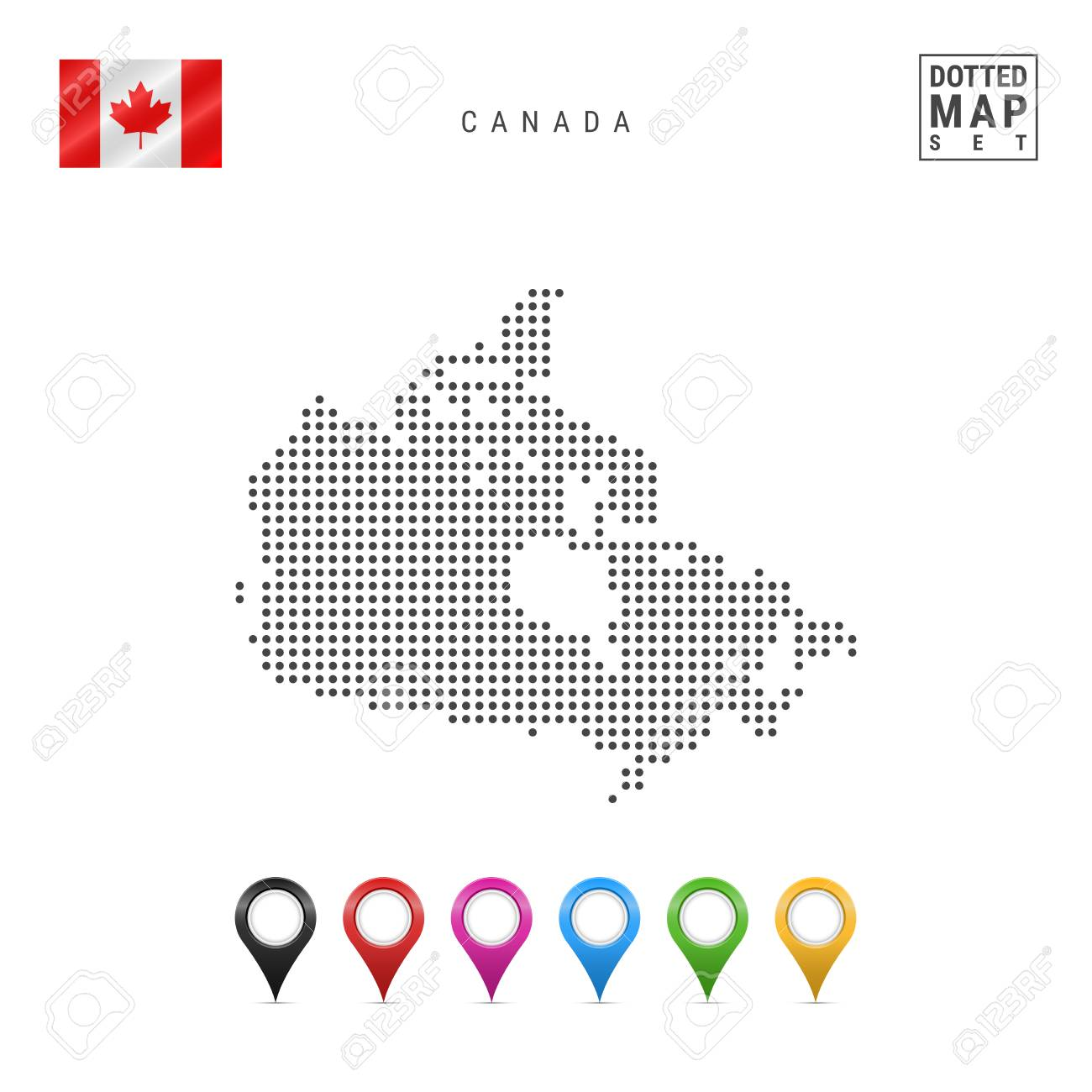 Map Of Canada Silhouette.Dotted Map Of Canada Simple Silhouette Of Canada The National