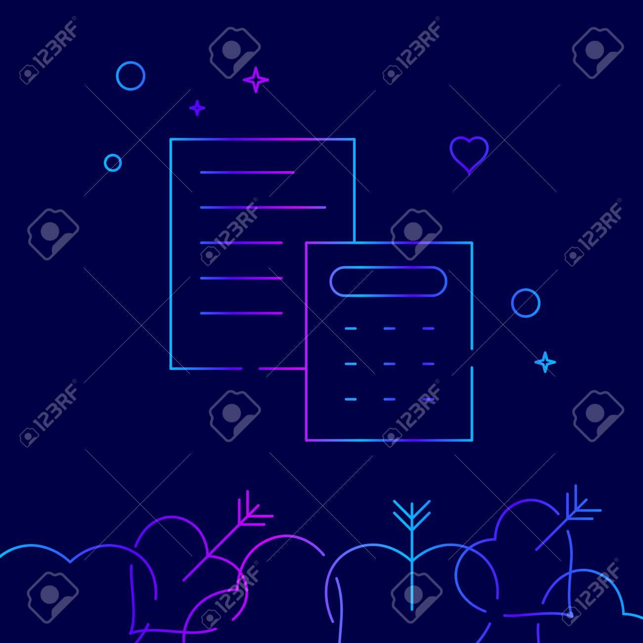 wedding estimate vector line icon symbol pictogram sign on