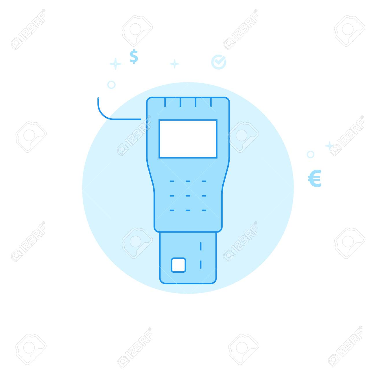 Payment Terminal Flat Vector Icon  Money and Finance Illustration