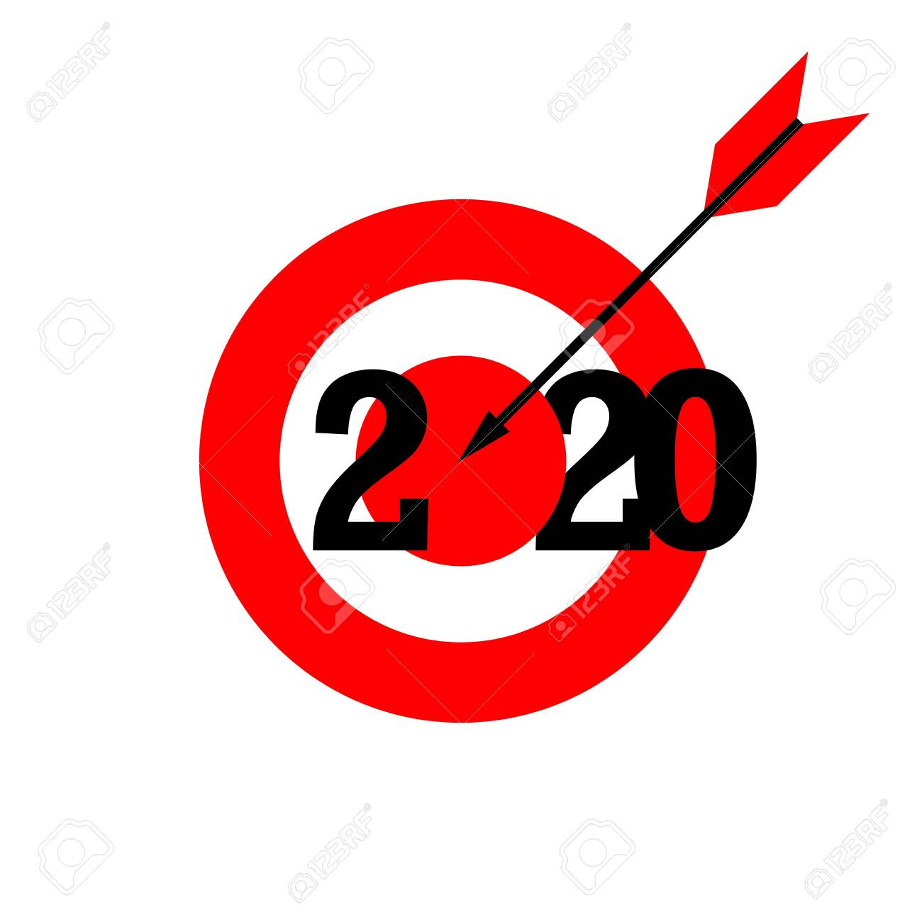 Christmas Arrow.Red Target Arrow 2020 Merry Christmas And Happy New Year 2020