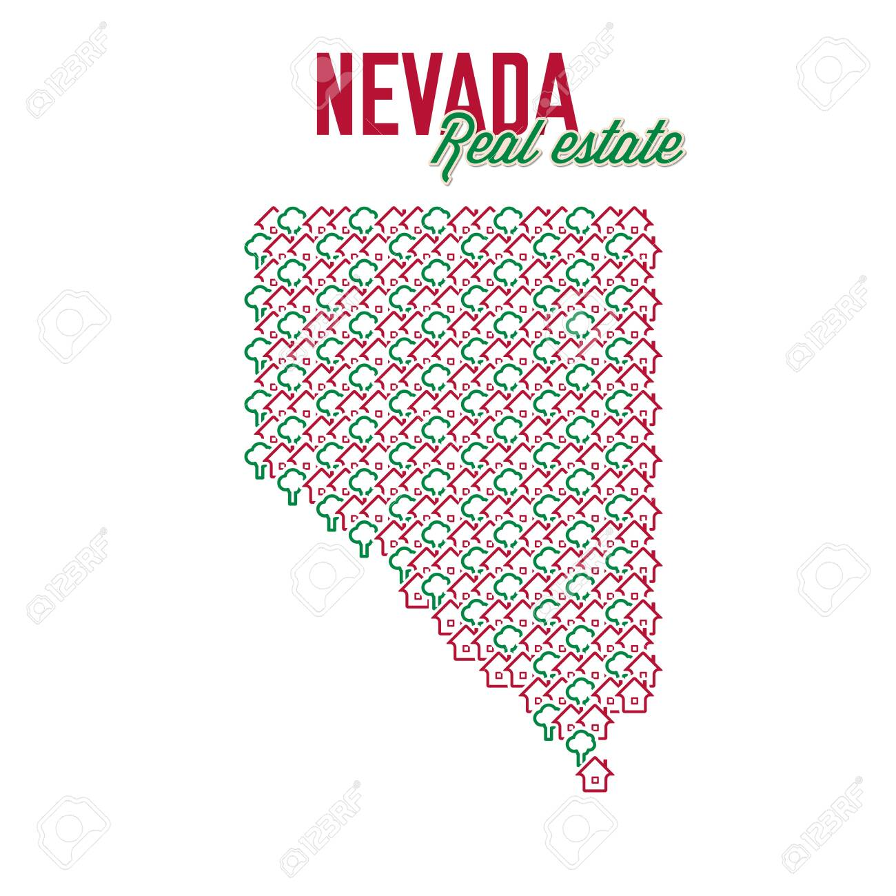 Nevada Real Estate Properties Map Text Design Nevada Us State Royalty Free Cliparts Vectors And Stock Illustration Image 137354318