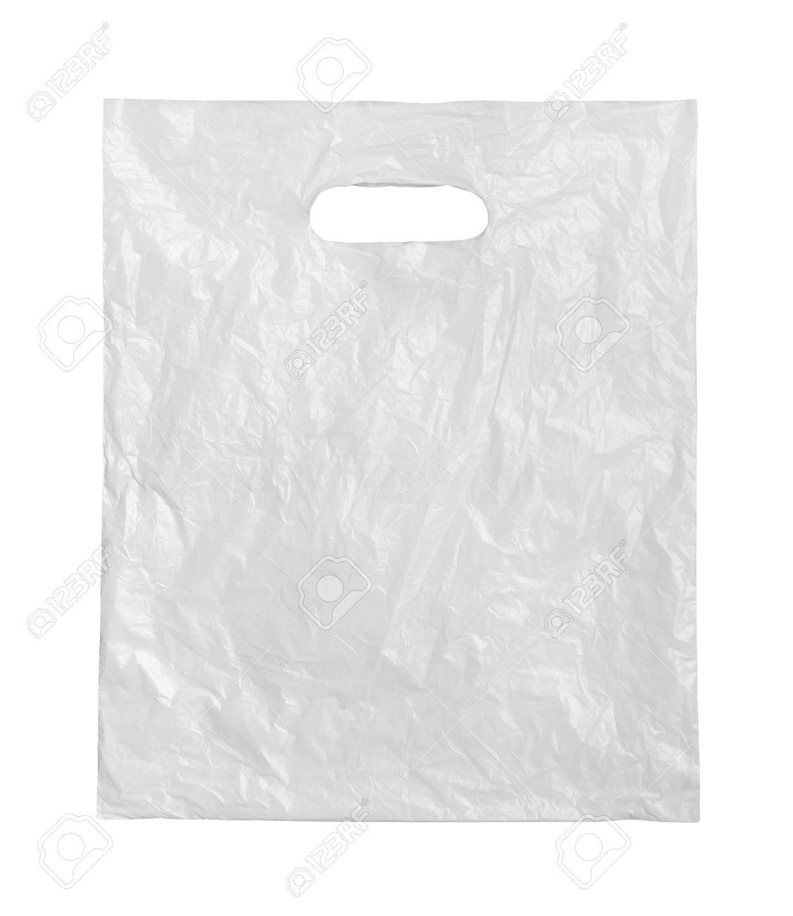 White plastic bag on a white background. Stock Photo - 13443222