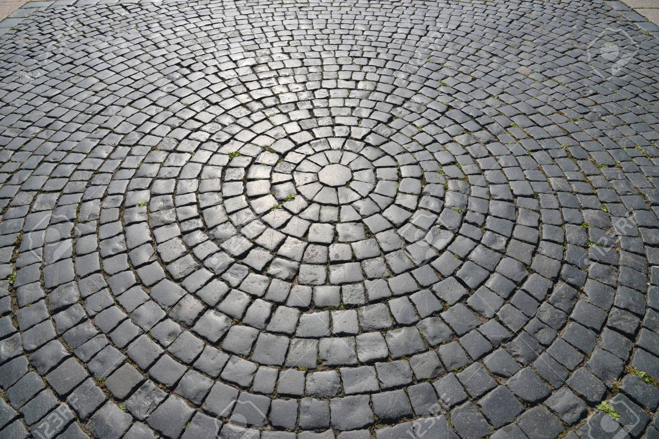 Abstract background of cobblestone pavement. Stock Photo - 23245885