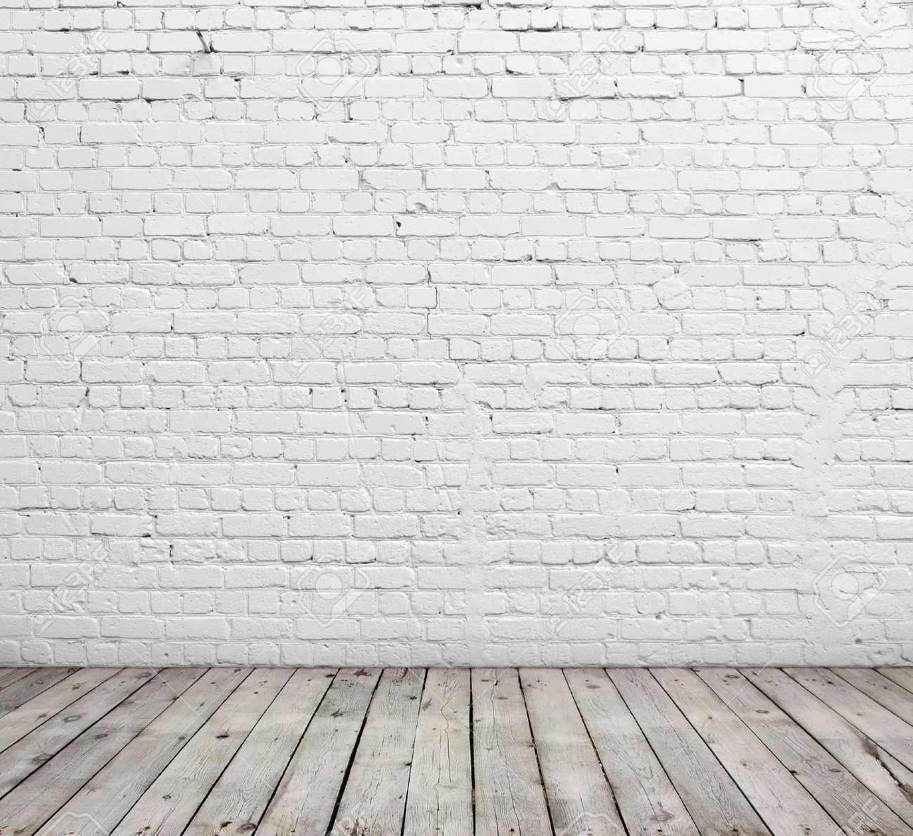 Old White Brick Wall And Wood Floor Stock Photo Picture And Royalty Free Image Image 30542631