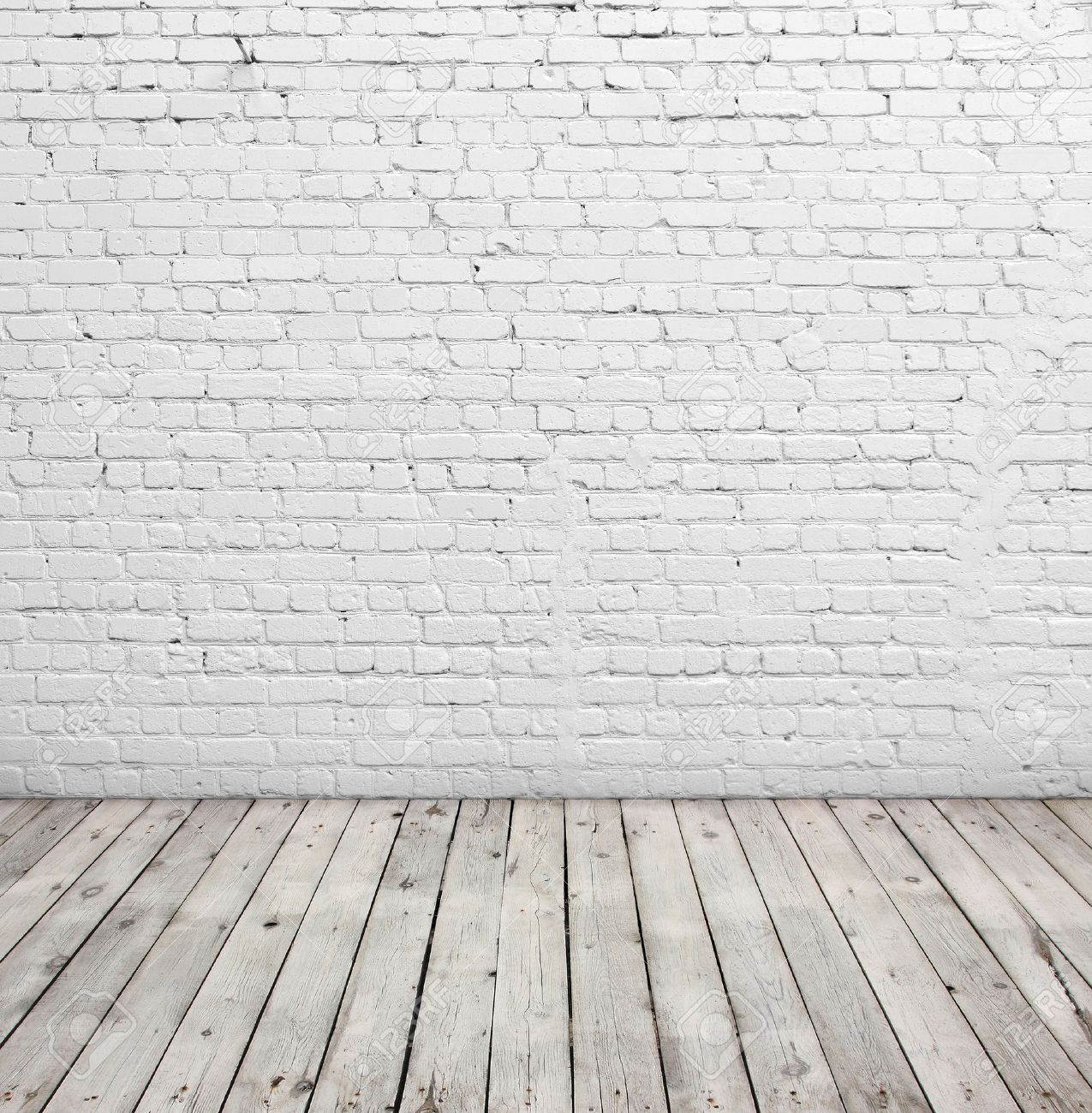 old white brick wall and wood floor stock photo picture and
