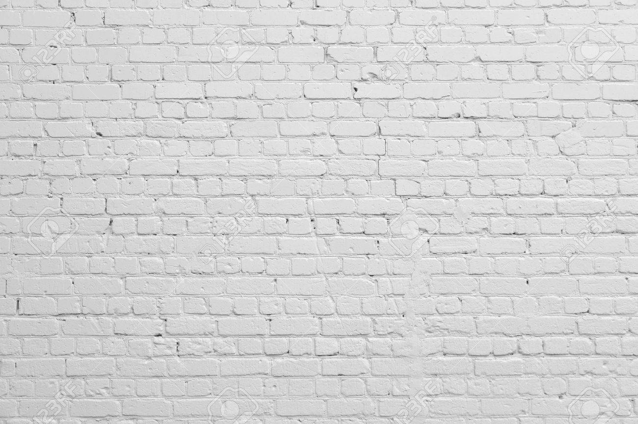 Background. Brick wall painted with white paint. - 51116560