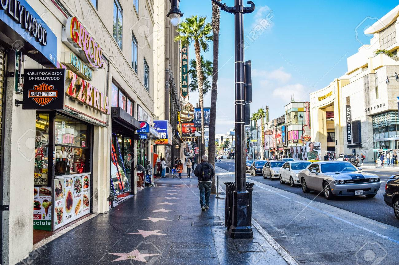 Hollywood Blvd Los Angeles California 01 16 2016 View Of Hollywood Stock Photo Picture And Royalty Free Image Image 54470565