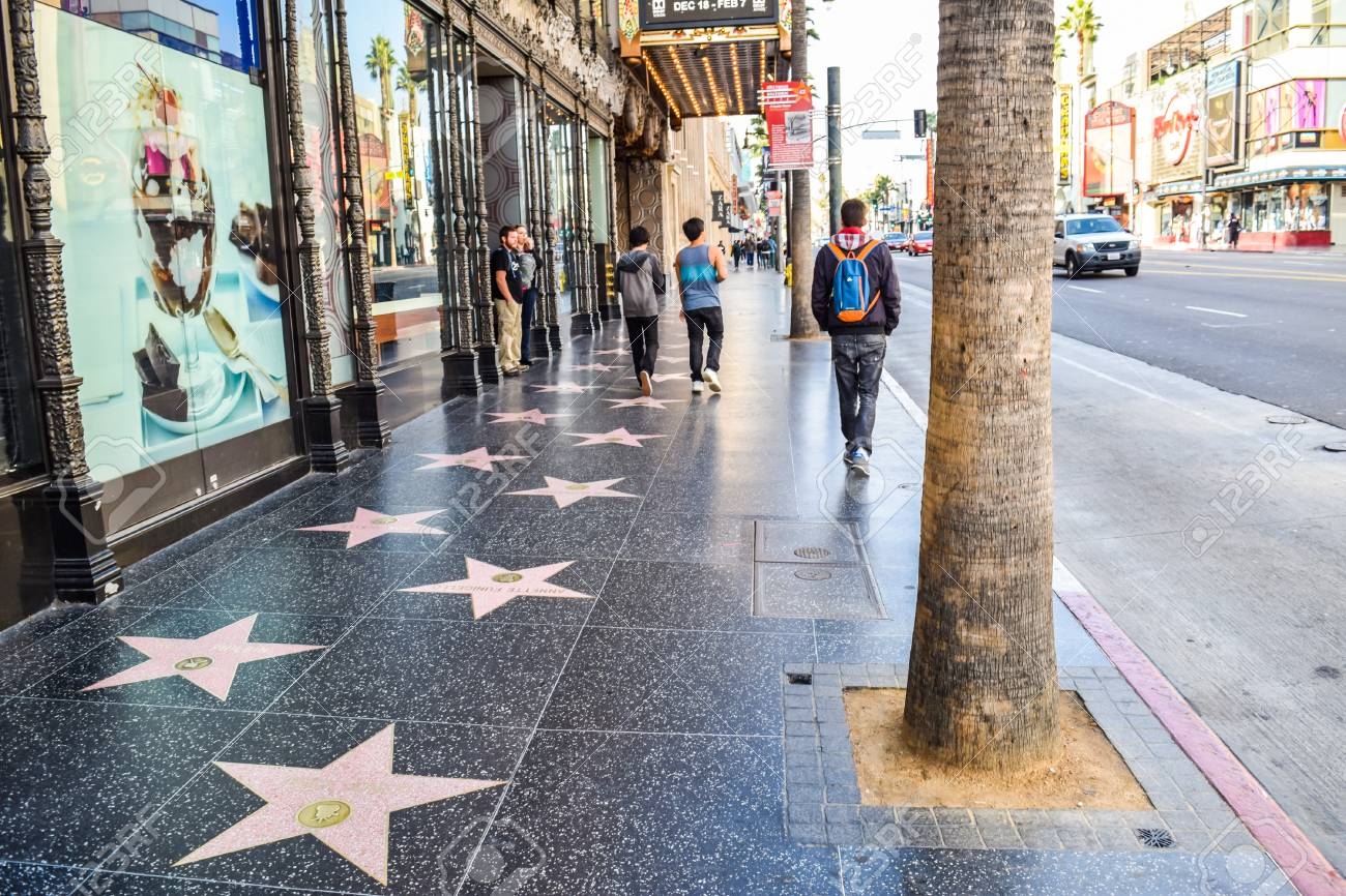 Hollywood Blvd Los Angeles California 01 16 2016 View Of Hollywood Stock Photo Picture And Royalty Free Image Image 55919228