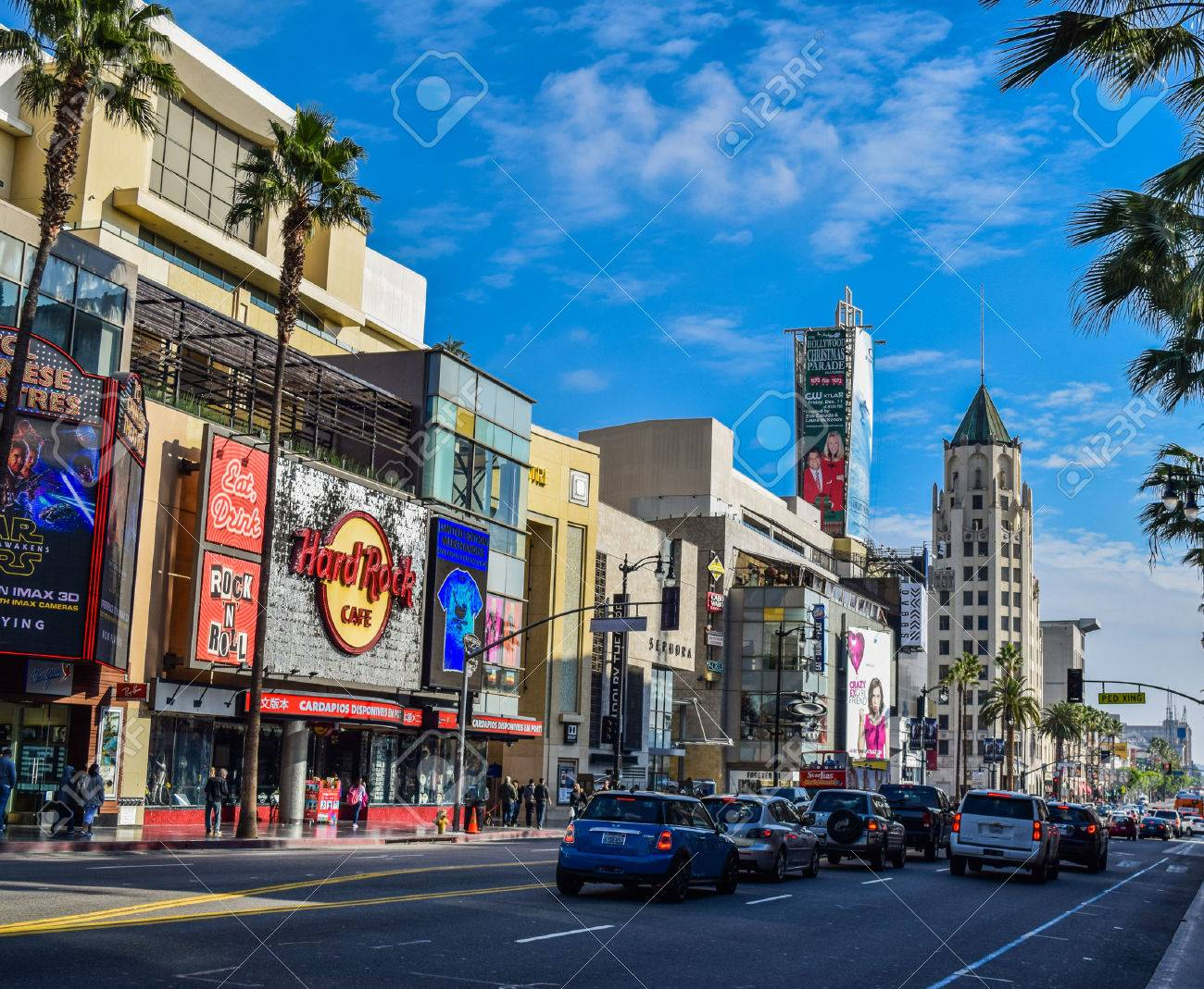 Hollywood Blvd Los Angeles California 01 16 2016 View Of Hollywood Stock Photo Picture And Royalty Free Image Image 57304325
