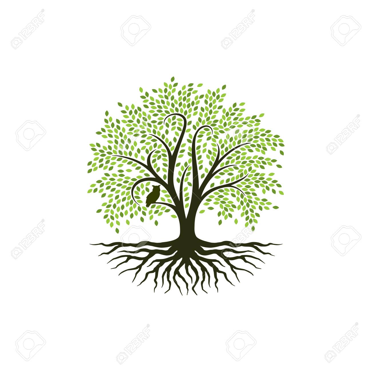 Abstract Vibrant Tree Logo Design Root Vector Tree Of Life