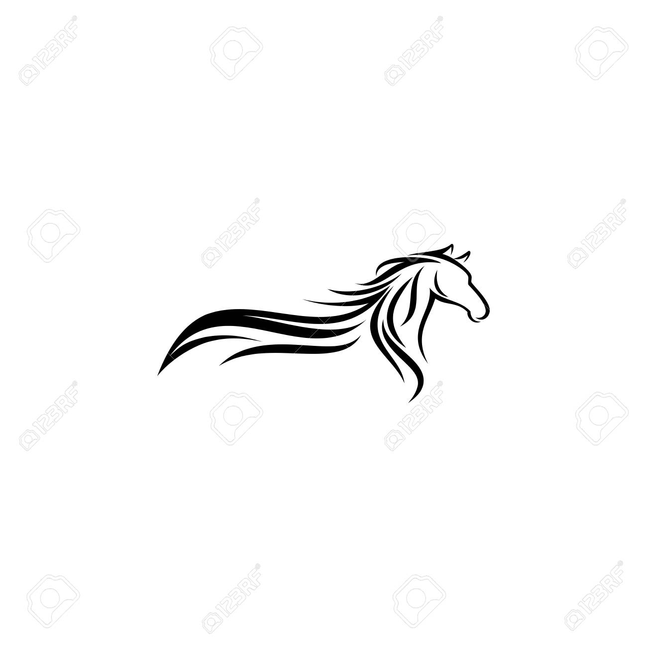 Abstract Horse Logo Design Inspiration Royalty Free Cliparts Vectors And Stock Illustration Image 118886515