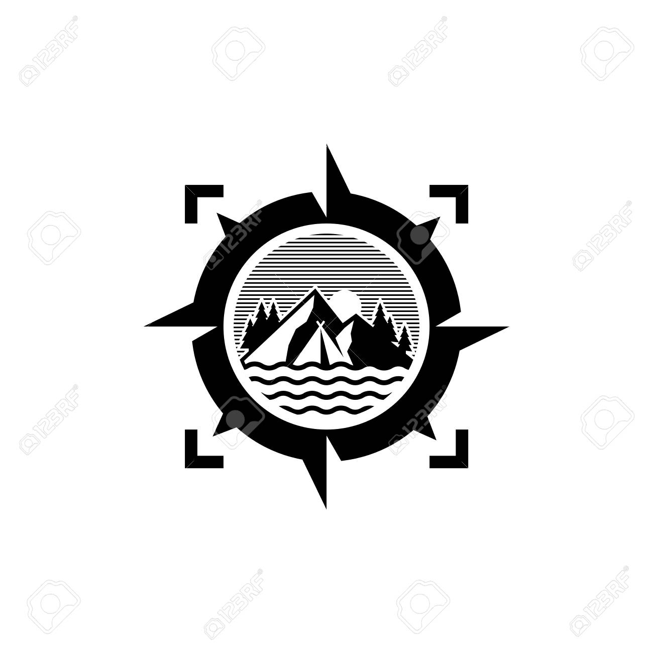 Adventure Logo Design Outdoor Logo Design Isolated On White Royalty Free Cliparts Vectors And Stock Illustration Image 118779634