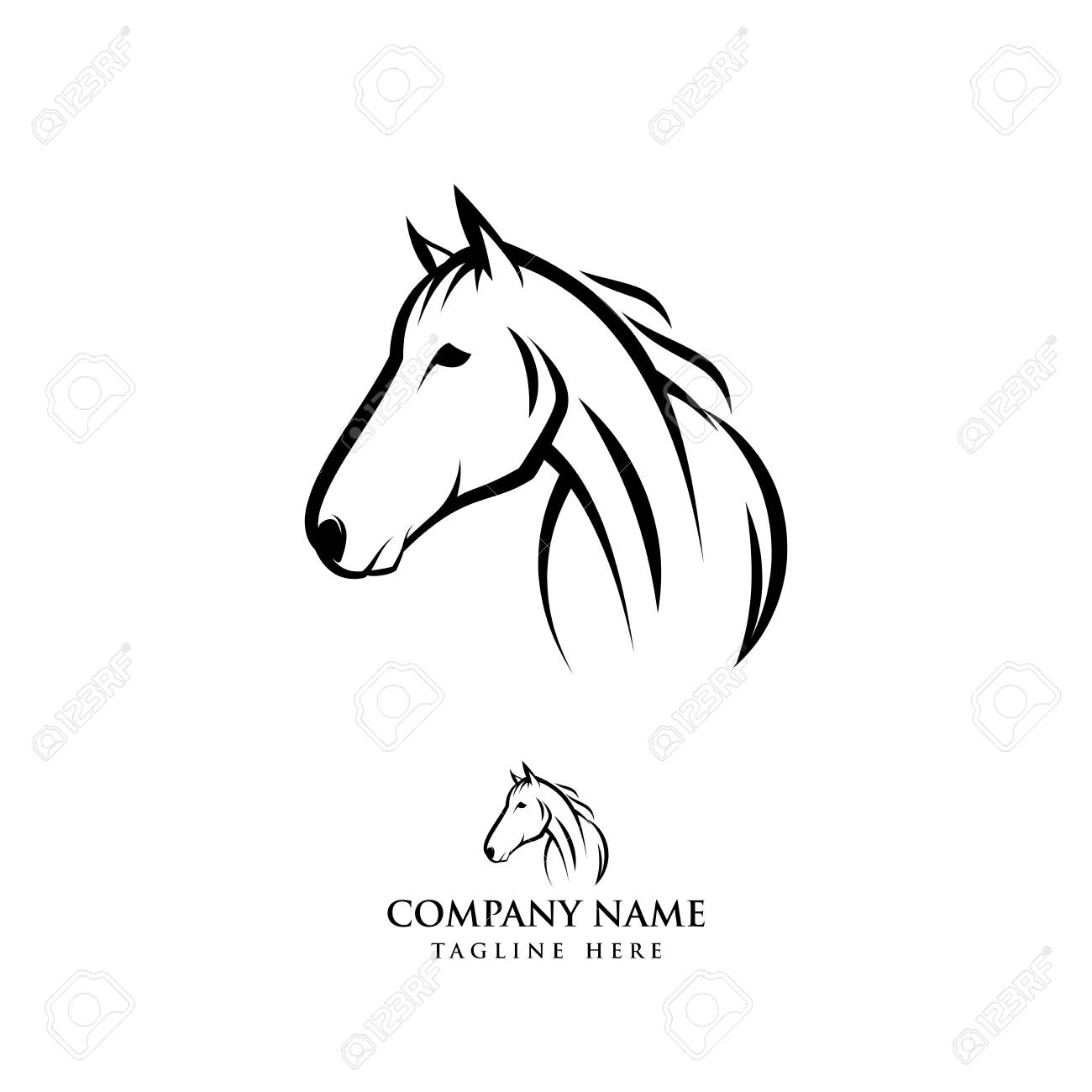 Horse Logo Design Illustration Horse Silhouette Vector Horse Royalty Free Cliparts Vectors And Stock Illustration Image 118779260