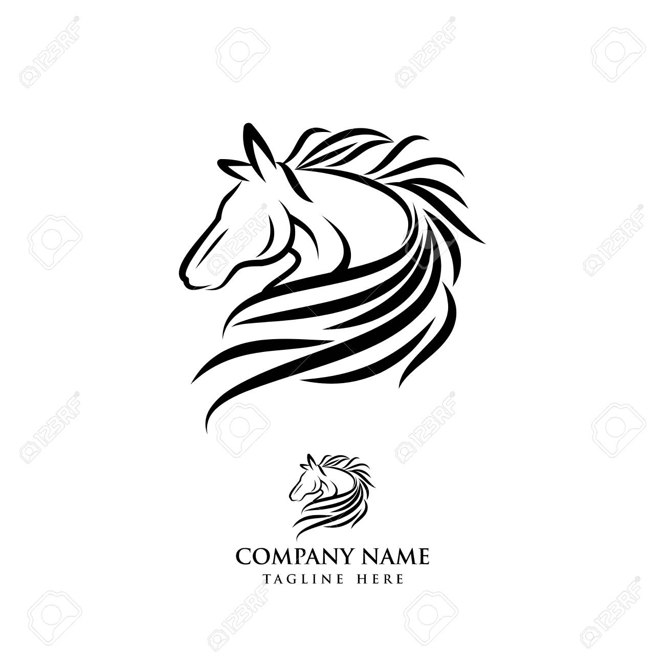 Horse Logo Design Illustration Horse Silhouette Vector Horse Royalty Free Cliparts Vectors And Stock Illustration Image 118779262