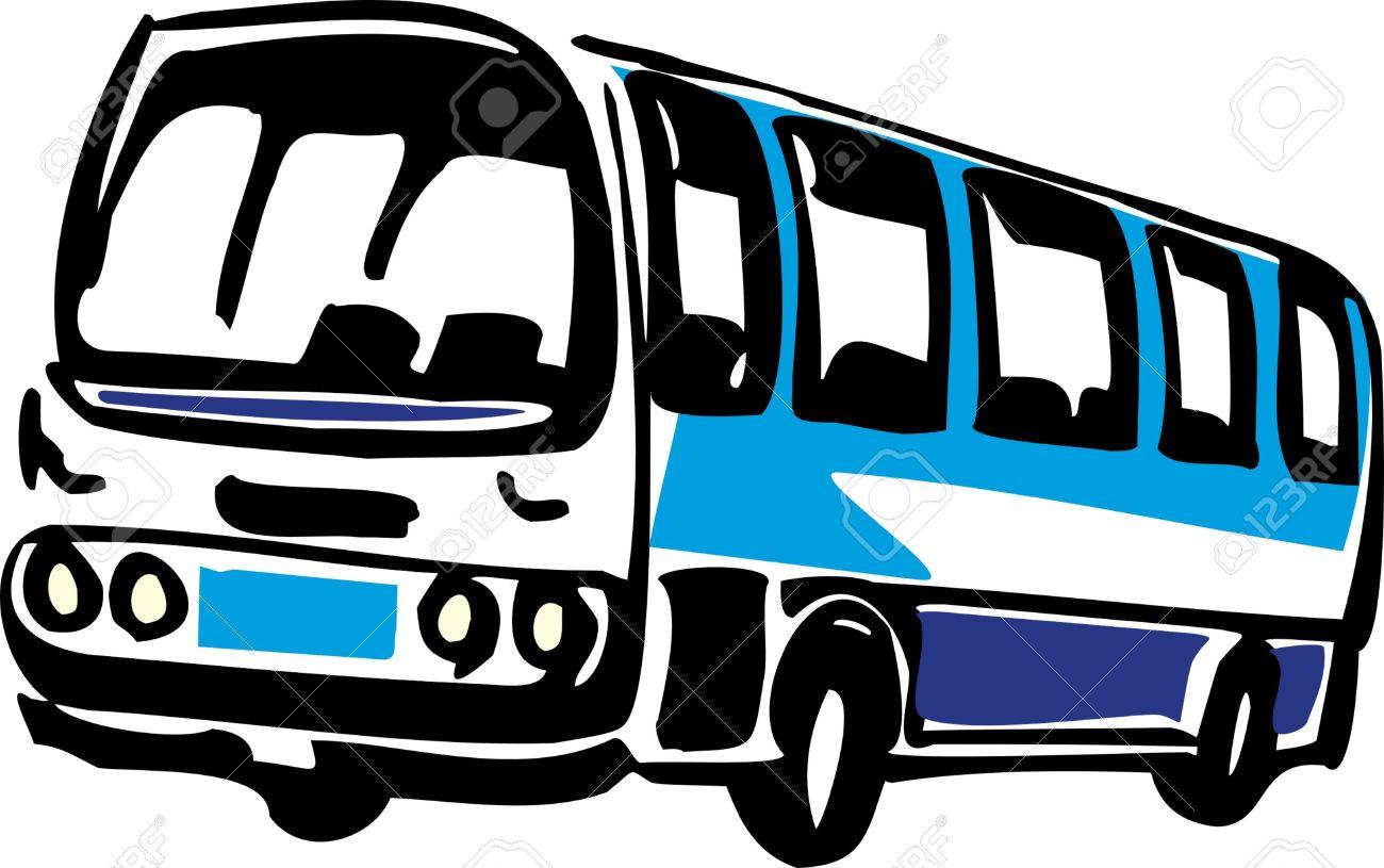 バスのイラスト ロイヤリティフリークリップアート、ベクター