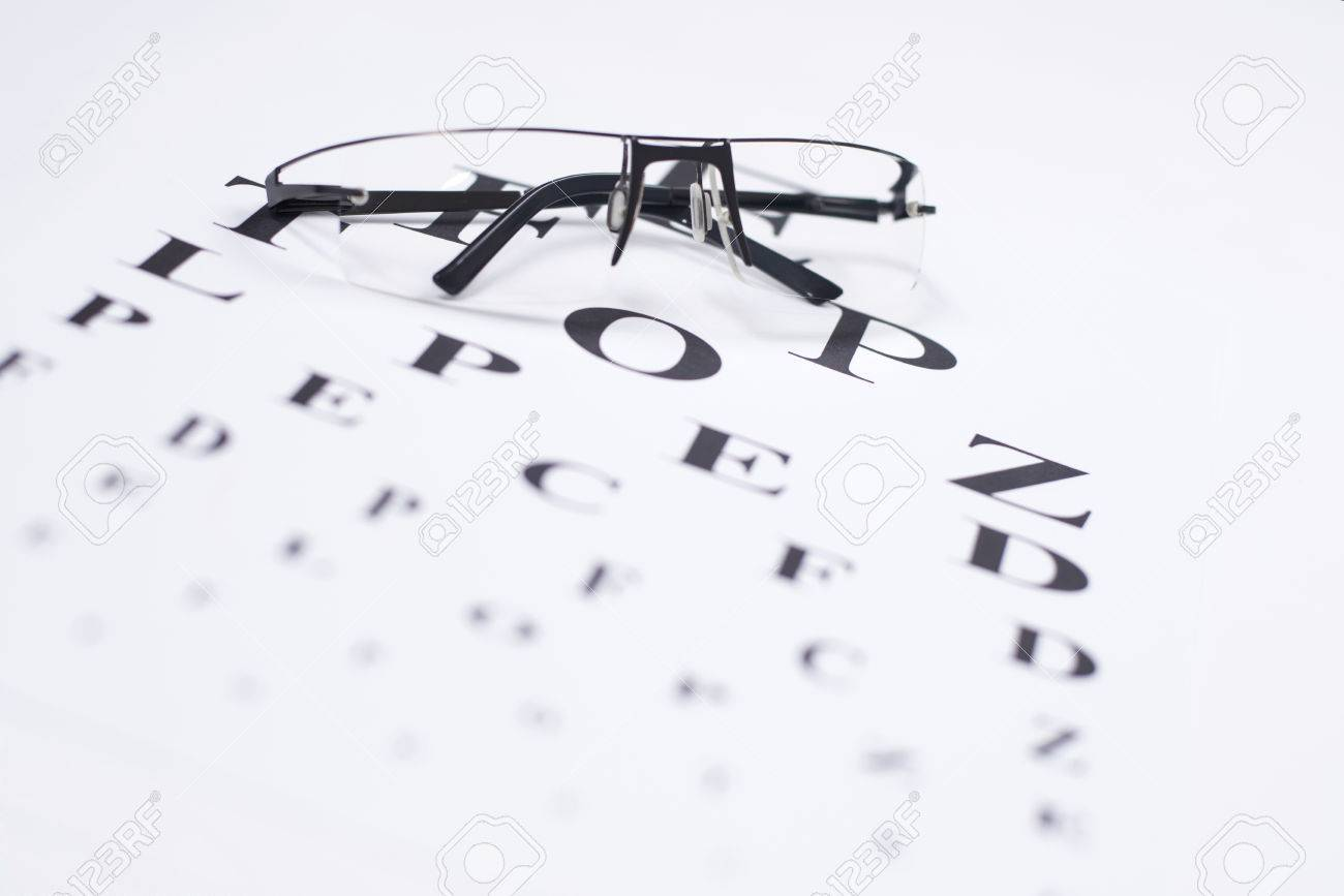 Reading Glasses With Eye Chart Stock Photo Picture And Royalty Free