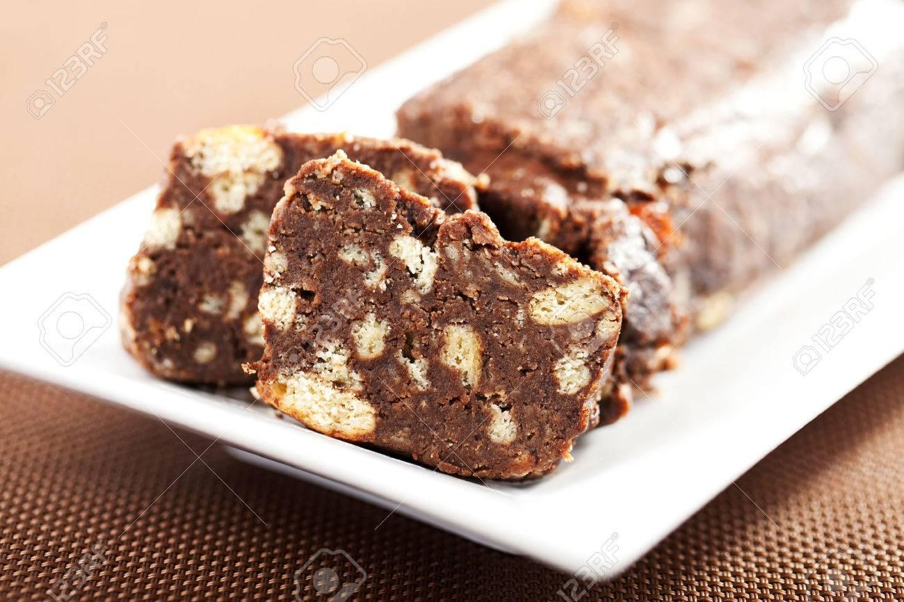 Chocolate Salami Or Chocolate Chouri?o Is A Traditional Portuguese ...