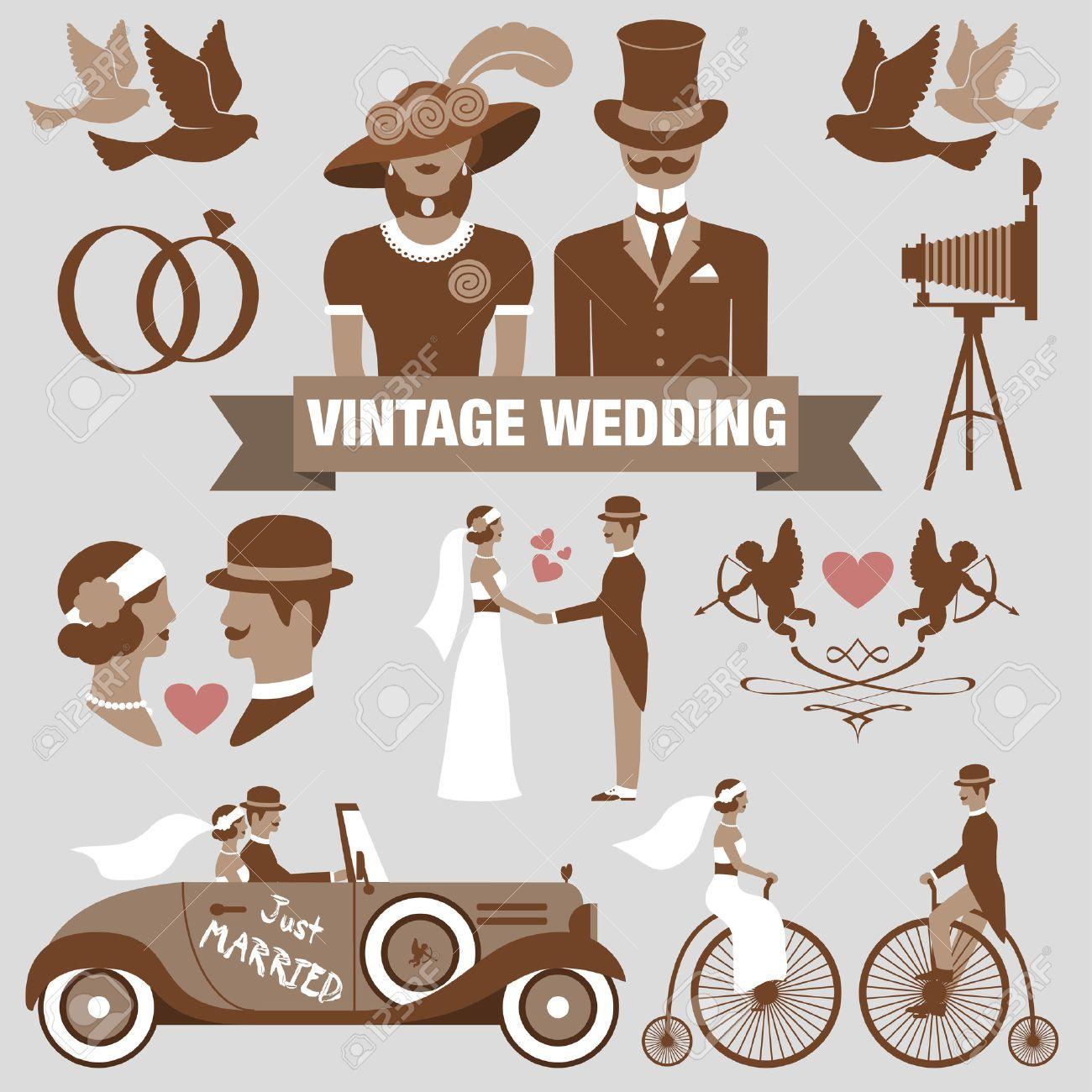 Ensembles de mariée vintage