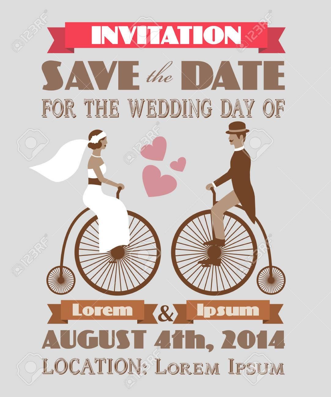 Vintage wedding invitation 2 Stock Vector - 22764297