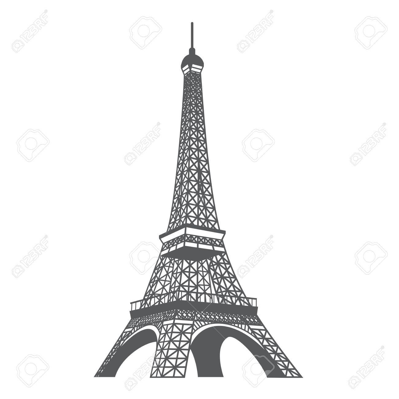 Sketsa Gambar Menara Eiffel