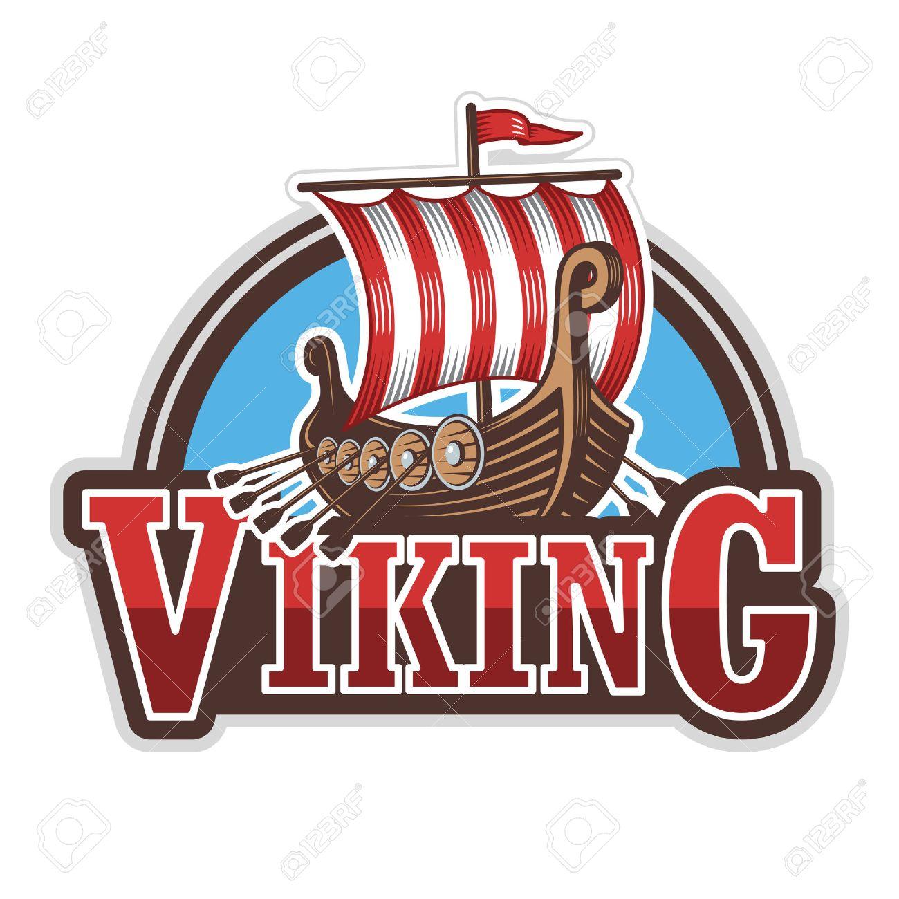 viking ship sport logo colored isolated on white background royalty rh 123rf com Ancient Viking Ships Ancient Viking Ships