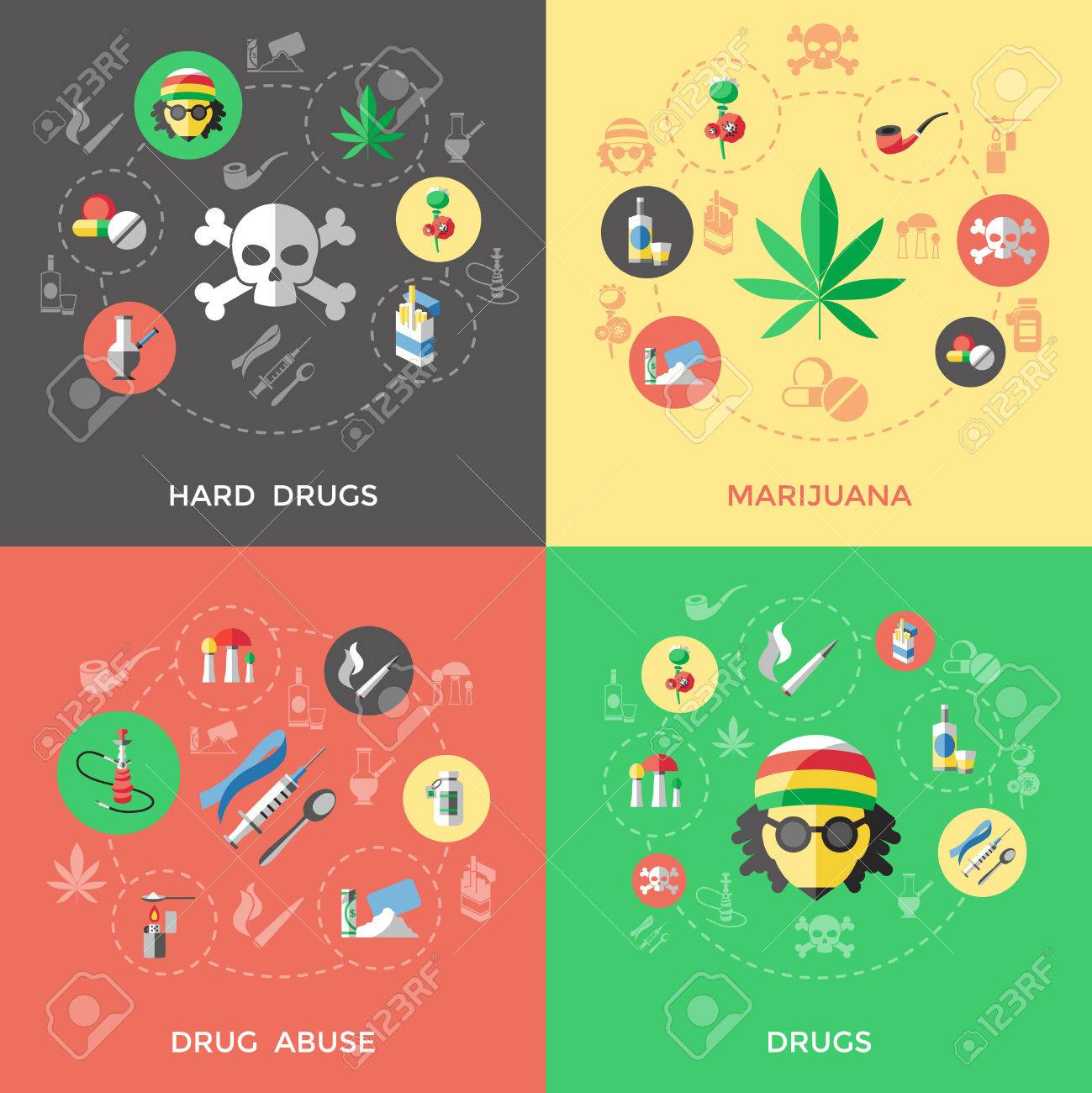 flat drugs icon set with descriptions of hard drugs marijuana royalty free cliparts vectors and stock illustration image 59664826 flat drugs icon set with descriptions of hard drugs marijuana