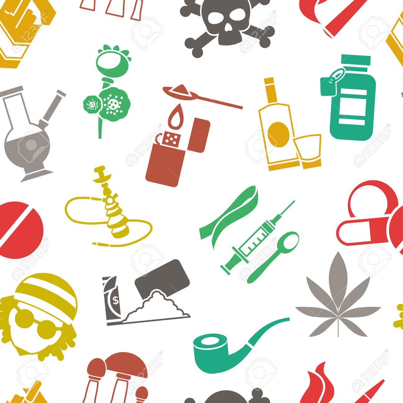 flat seamless background drugs pattern with isolated colored royalty free cliparts vectors and stock illustration image 59664823 flat seamless background drugs pattern with isolated colored