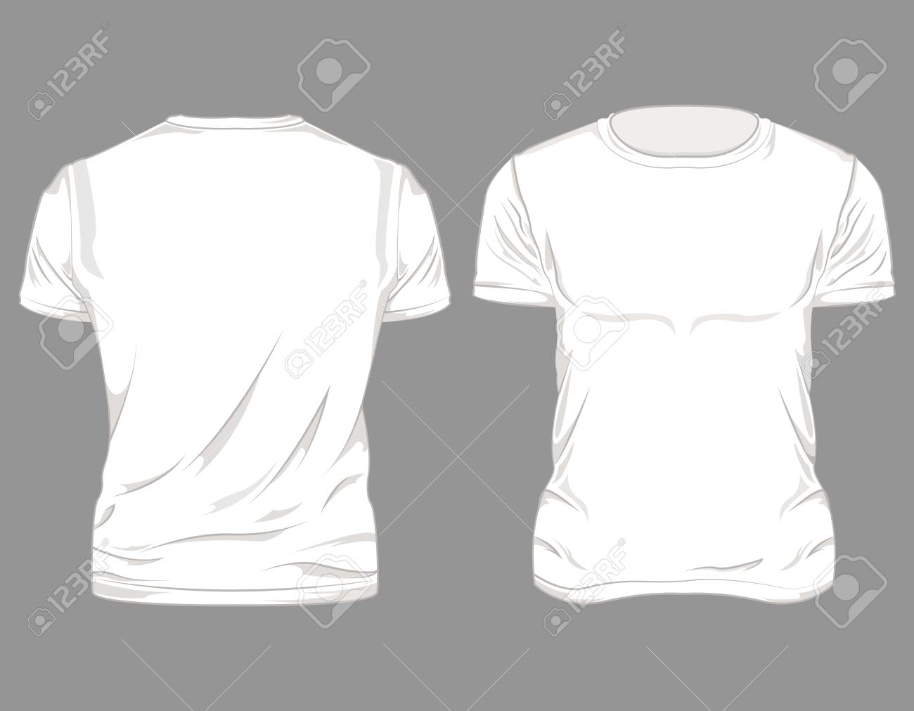 posterior masculina gris y frontal Camiseta fondo blanca sobre diseño dEQxeoCrBW